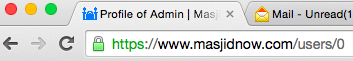 "Google Chrome shows the ""green lock"" icon when a website is secured by HTTPS."